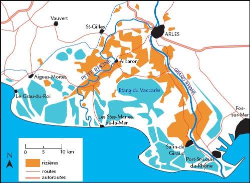 Region Camargue Carte